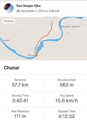 My adventure of cycling 60 km, to witness the best view of sunrise over Ganga.    #adventureactivity
