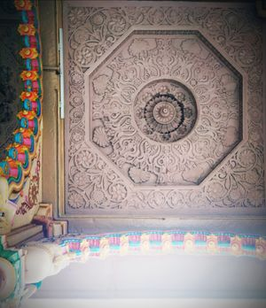 Ceiling art- Swaminarayan Mandir, Ahmedabad
