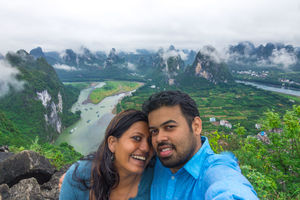 Clouds kissed the mountains; we watched (and took a selfie) ???? #SelfieWithAView #TripotoCommunity