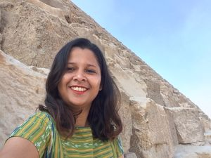 My first international trip at Egypt, pyramids  ❤️ #SelfieWithAView and #TripotoCommunity
