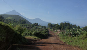 The Distant Volcanoes of Mgahinga, Uganda