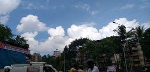 Beautiful clouds in Mumbai.