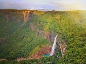 Magnificent Nohkalikai falls | Meghalaya | Cherrapunji | Soul and Fuel |