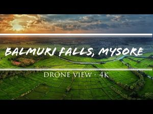 Incredible Balmuri Falls, Mysore : (4k) Drone view Ft. Mahi & Priya #soulandfuel