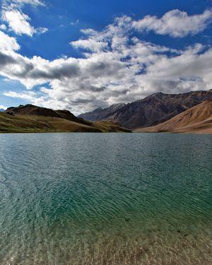 The beautiful Chandra Taal lake