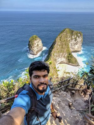 One of the most beautiful places at Nusa Penida ???? #SelfieWithAView #TripotoCommunity