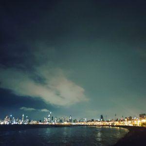Mumbai marine drive night