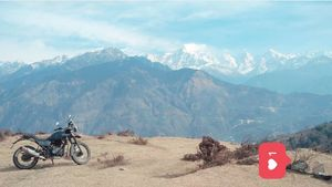 Ur bike is ur companion for all the beautiful rides @tripotocommunity @himalayan @panchachuli