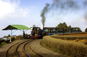 Heritage Journey.  This place is known as Batasia loop in femous #DHR Darjeeling Himalayan Railway.