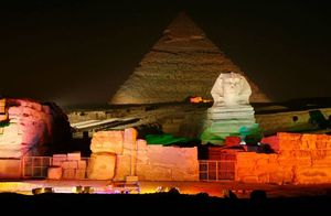 Sound & Light Show at Giza Pyramids