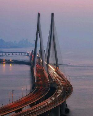 Long exposure #Bandra worli #sealink #mumbai