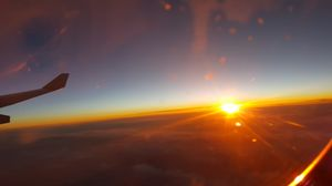 Sunrise above the clouds... Inside of AF131. A journey from Bangalore to France