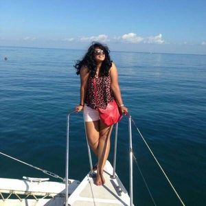 On the Mauritius catamaran with the wind in my hair ???? #SelfieWithAView #TripotoCommunity