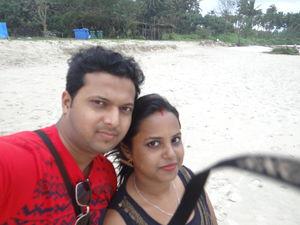 me n my wife njoying @ Goa....