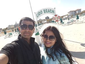 Amazing place.. lovely beach.. sunshine.. withmysweetheart #SelfieWithAView #TripotoCommunity