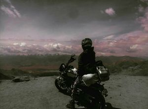 The view is really mesmerizing. (18,379ft)it is one of the world's highest motorable road.