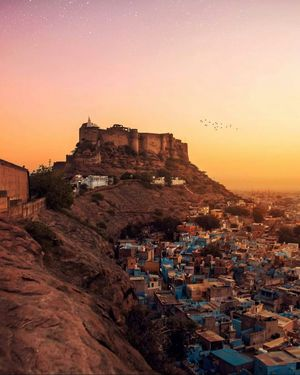 Mehrangarh, towering above the Blue City of Jodhpur! Romancing History, of another era!!