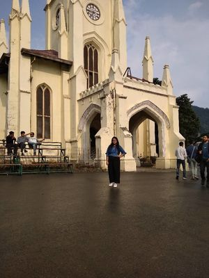 Tour to Shimla , and its most famous church on the mall road❤️ #mandatoryphoto