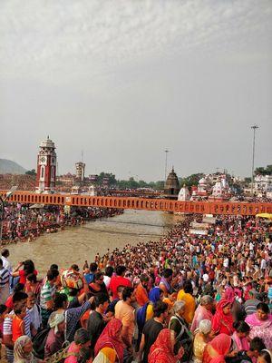 Gateway to God : Haridwar , A holy place where devotees bathe in holy river ganga.