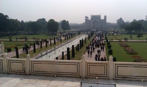 Everyone look at front only, but I captured the back side view of Taj Mahal..