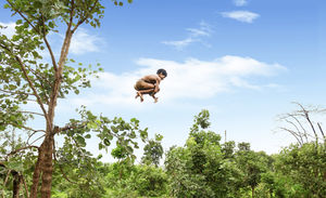 The boy was jumping from the tree in to the well. at the time i clicked this wonderfull view .