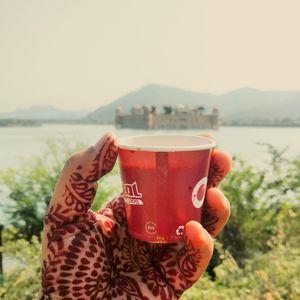 Jal Mahal view over chai