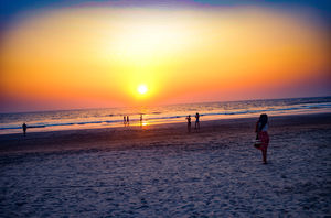 Bright sun,soothing air, Smooth sand,salty hair! & it's beauty of beach as it's peace everywhere!