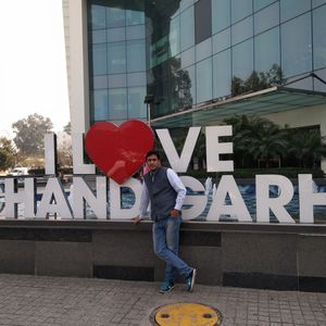 I love this pic... Because its click by dad on chandigarh tour