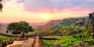 Mandu sunset point , is a place in mandav town near Indore Madhya Pradesh.Witnesses a beautiful view
