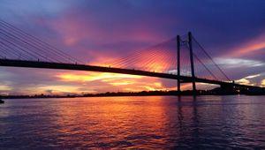 Infamous Bridge of Kolkata - Taken at Princep Ghat