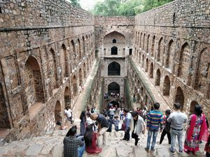 Quenching thirst at UGRASEN KI BAOLI