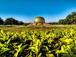 The Matrimandir of Auroville.