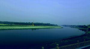 "Yamuna river , view from tajmahal"""