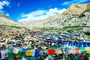 Prayer flags sending gusts of good wishes your way in Magical Ladakh ????