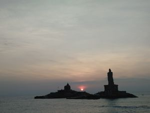 Beautiful sunrise at the tip of INDIA. #kanyakumari #peace #happiness #travel
