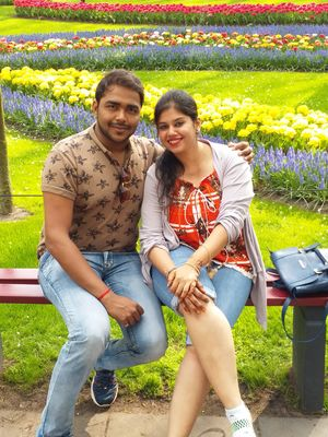 With my love wht cld b bttr than surrounded by tulips