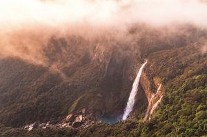 Nohkalikai falls, Meghalaya Tallest plunge waterfall in India 1118 ft