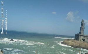 Confluence of Bay Of Bengal, Arabian Sea and Indian Ocean #KanyaKumari @tripotocommunity