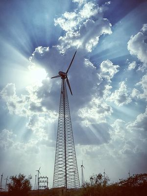 This is a snap from the Jaisalmer wind park which is the largest wind park in India and the world!