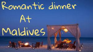 Maldives Vlog | Candle Light Dinner | Sun Set Beach #gopro #candle #romanticdinner  #CoupleGoals