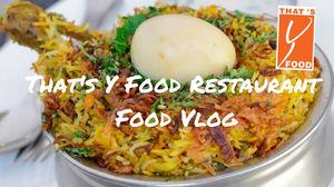 Coimbatore Vlog | That's Y Food Restaurant| Travel Vlog #Coimbatore #steeteat #foodvlog #foode #vlog