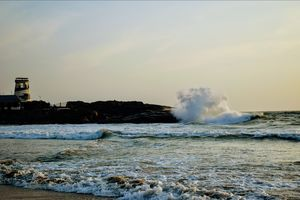 One of the best beaches in kerala... Superb view of sunset.. @ kovalam beach Trivandrum, Kerala
