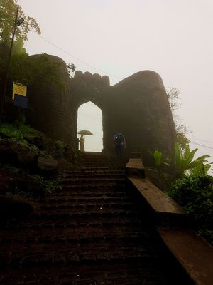 A day trip to Sinhagad fort by trek, a famous fort near Pune.