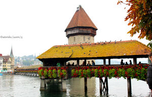 Kapelbrucke Bridge, Lucern, Switzerland