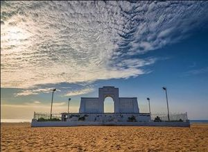 Ditch Marina beach consider Elliot's beach #chennai#serene#beaches