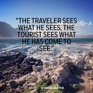 A traveller or a tourist? Who are you?