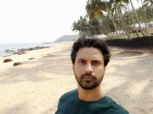 Some precious time with nature in Goa's famous Cola beach.    #SelfieWithAView #TripotoCommunity