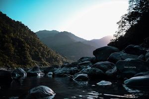 My one of the best experience in Rishikesh ????..this pic shows how this place is blessed with natur