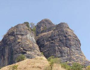 A planned trip converted into a Unplanned stay-sarasgad fort trek#unforgettablesolo