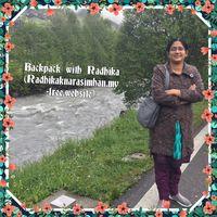 Radhika.K.Narasimhan(Backpack with Radhika) Travel Blogger